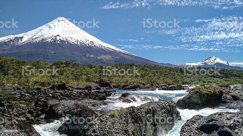 waterfalls Osorno stock photo