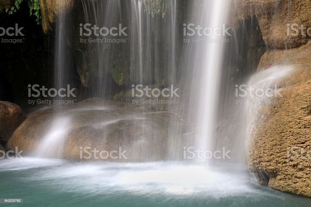 Waterfalls shallow water royalty-free stock photo