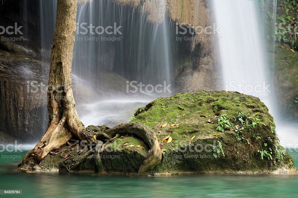 Waterfalls shallow water royalty-free stock photo