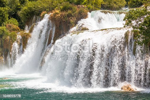 Waterfalls Skradinski Buk in The Krka National Park in Croatia, Europe.