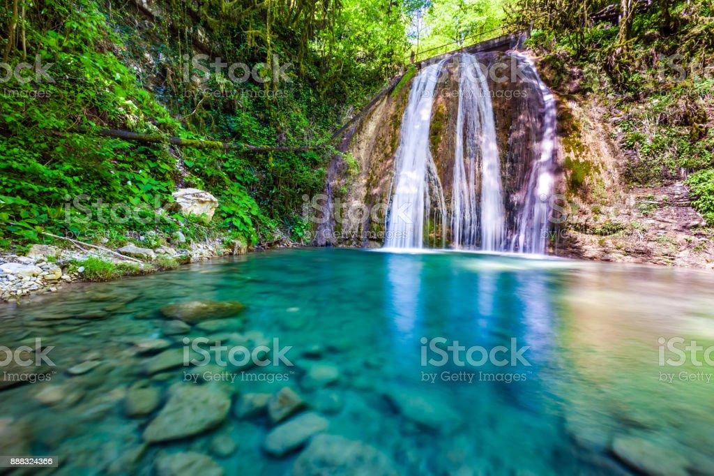 33 Waterfalls, Sochi, Russia. stock photo