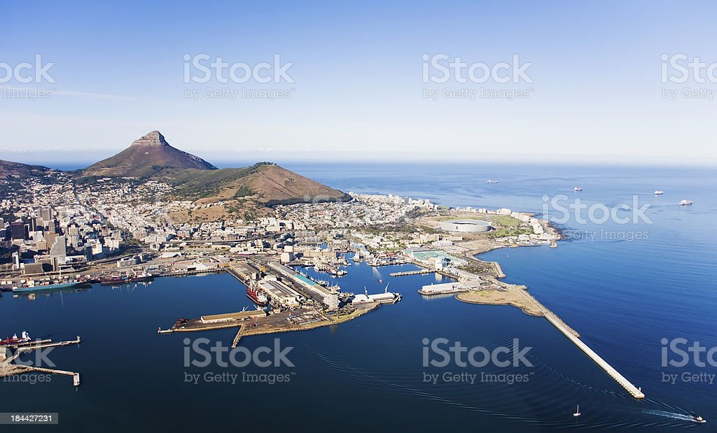 V&A Waterfront and Cape Town Harbour, South Africa stock photo