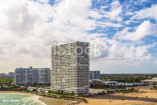 istock Waterfront Apartment Buildings - Fort Lauderdale 802138468