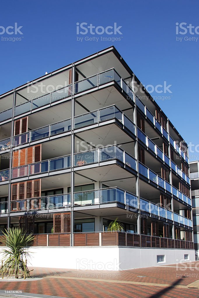 Waterfront apartment in Auckland stock photo