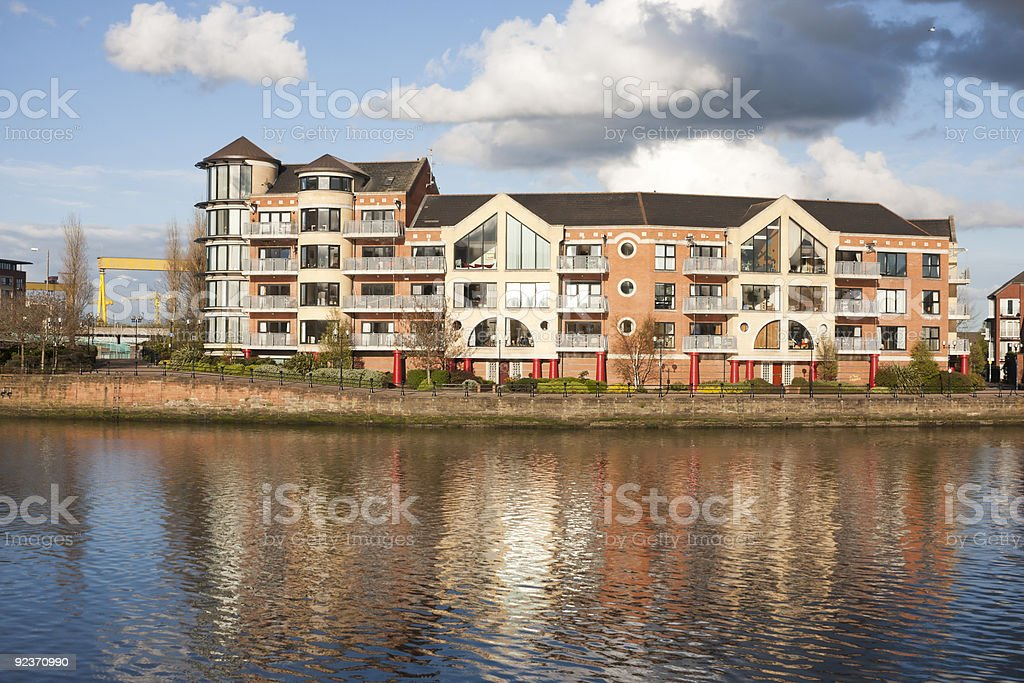 Waterfront Apartments stock photo