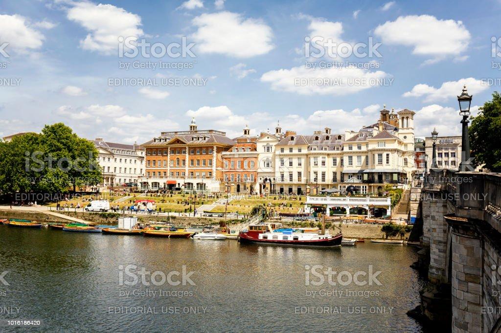 Uferpromenade in Richmond upon Thames, London, UK – Foto