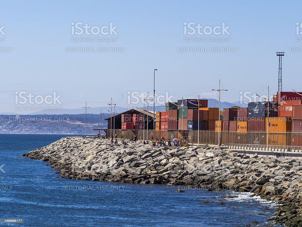 Waterfront at Valparaiso, Chile royalty-free stock photo