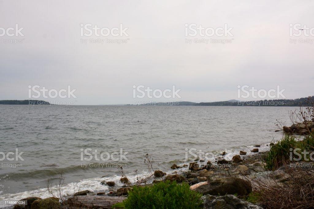 Waterfront Beach stock photo