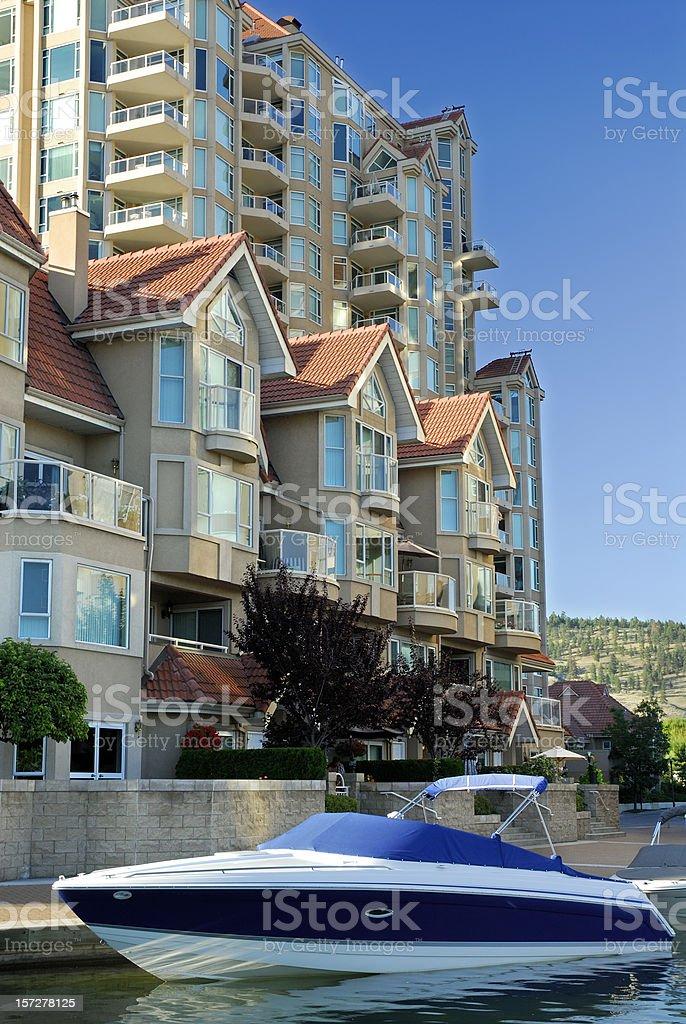 Waterfront Condominium royalty-free stock photo