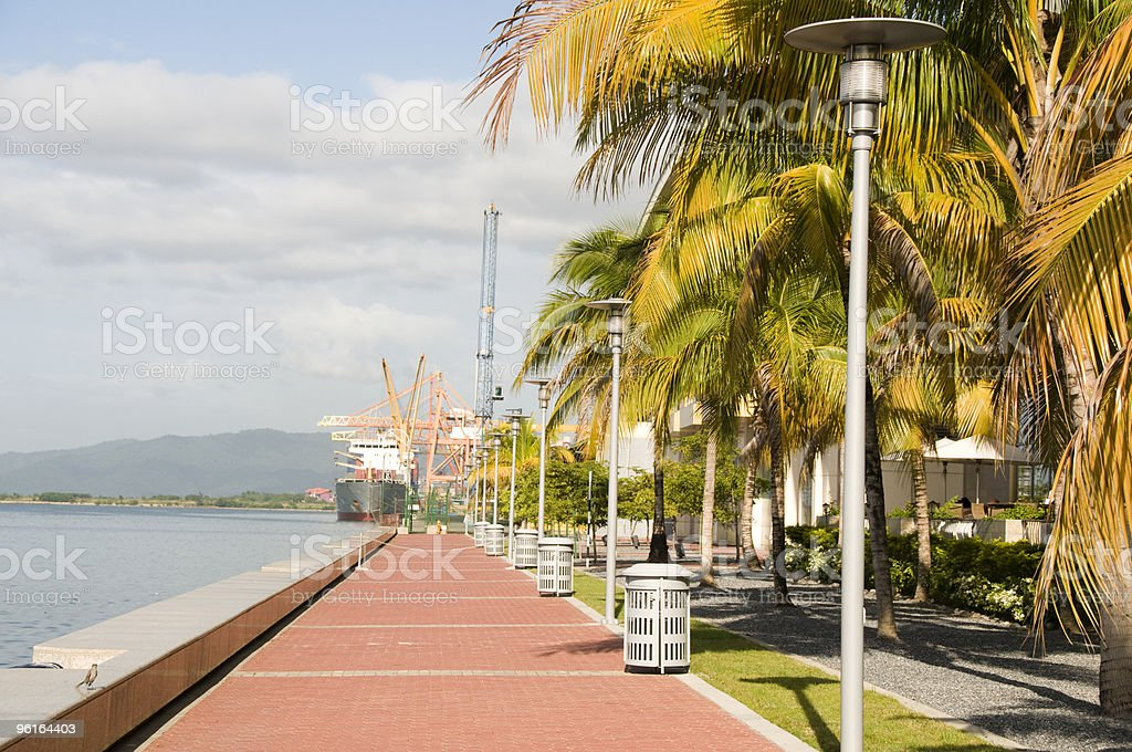 waterfront development program port of spain trinida stock photo