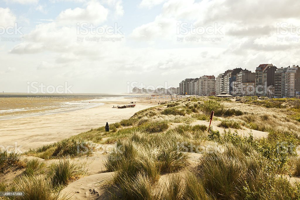 Waterfront, dunes and beach near Zeebrugge​​​ foto