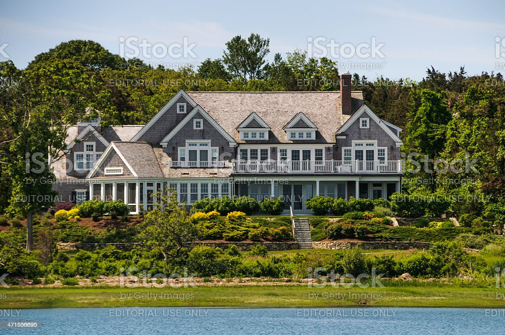 Waterfront Estate royalty-free stock photo