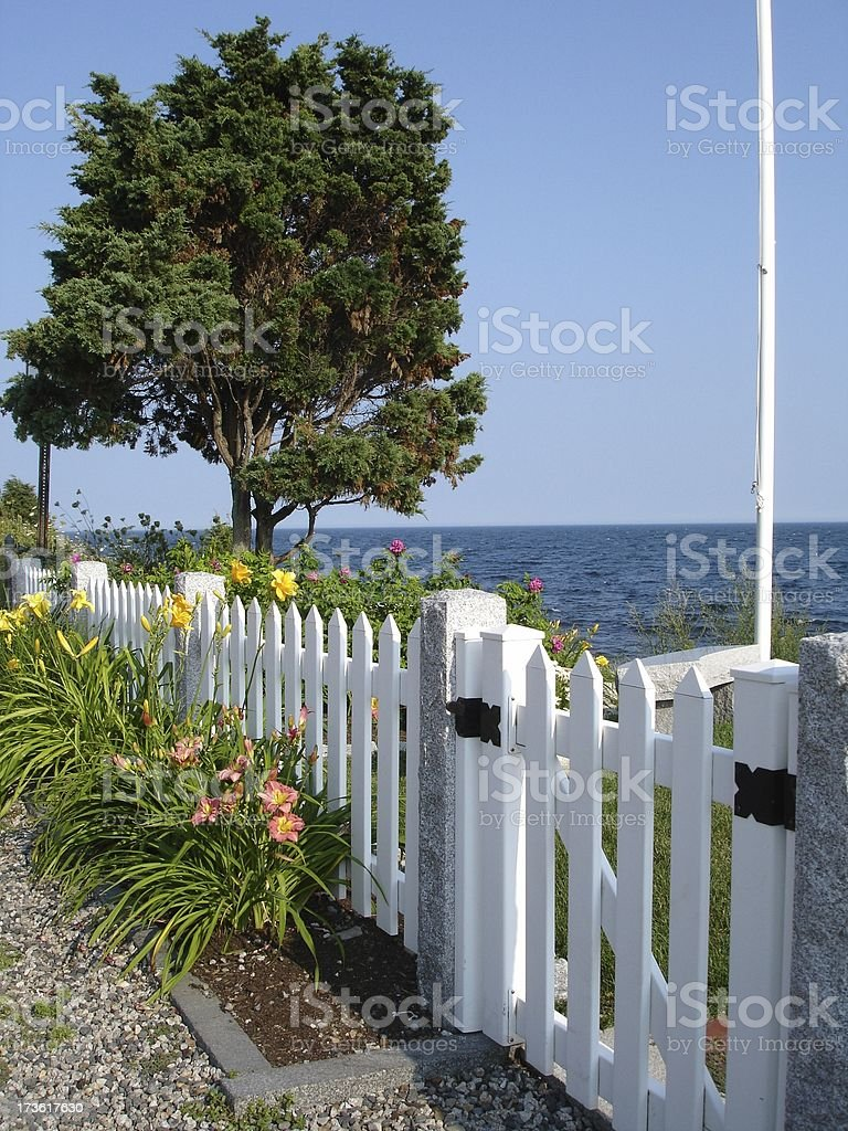 Waterfront Garden stock photo