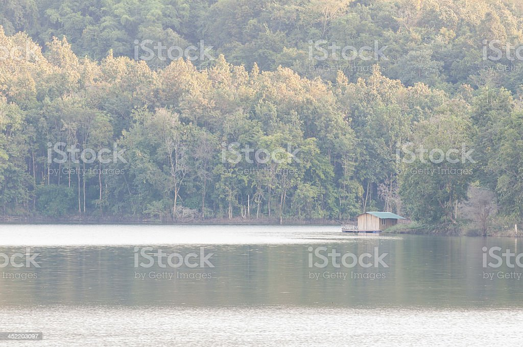 Waterfront home in the wild royalty-free stock photo