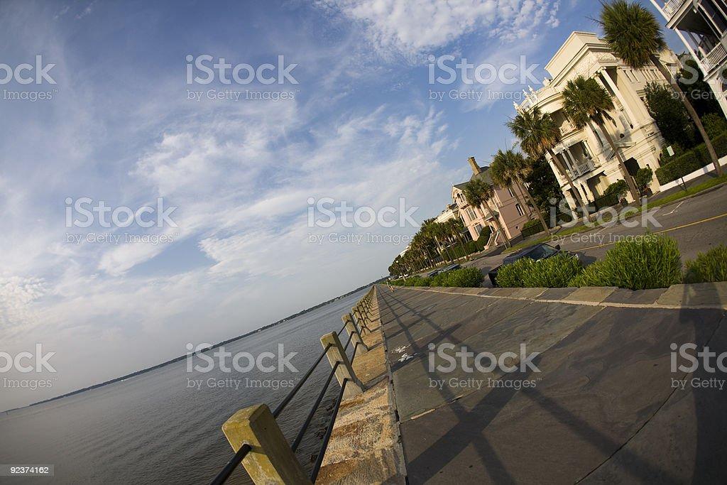 Waterfront homes in Charleston South Carolina royalty-free stock photo