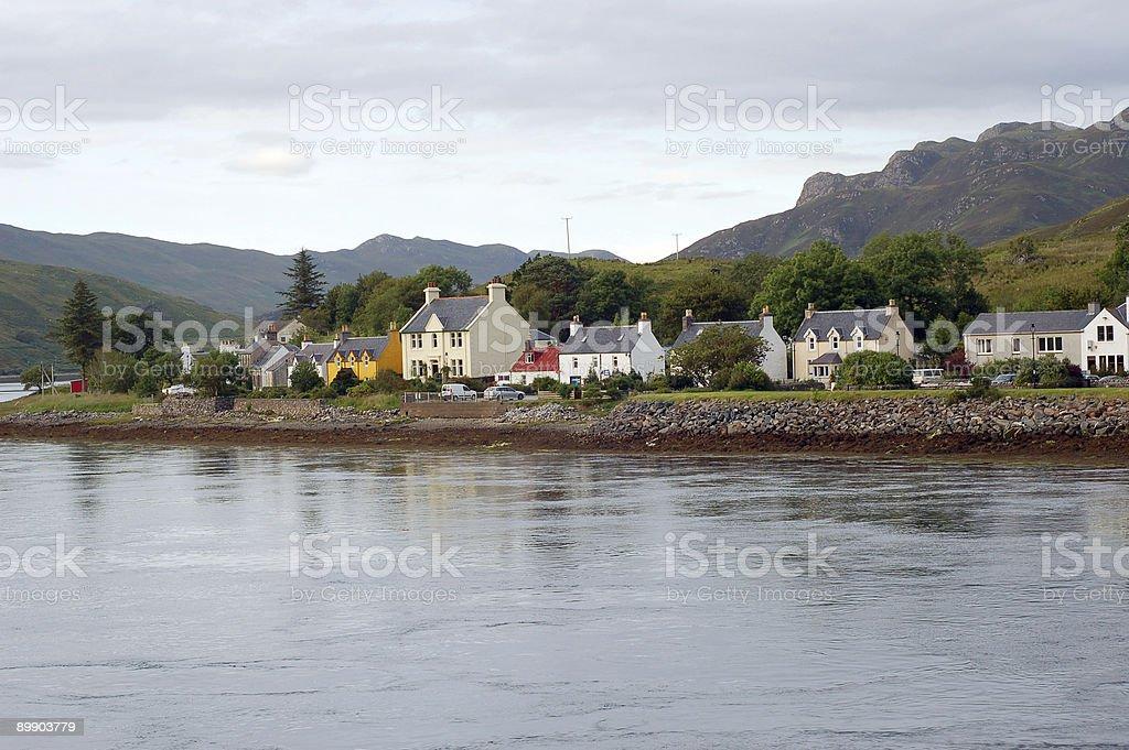 Waterfront Häuser Lizenzfreies stock-foto