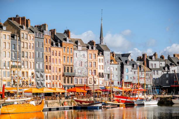 Hafen Stadt Honfleur, Frankreich – Foto