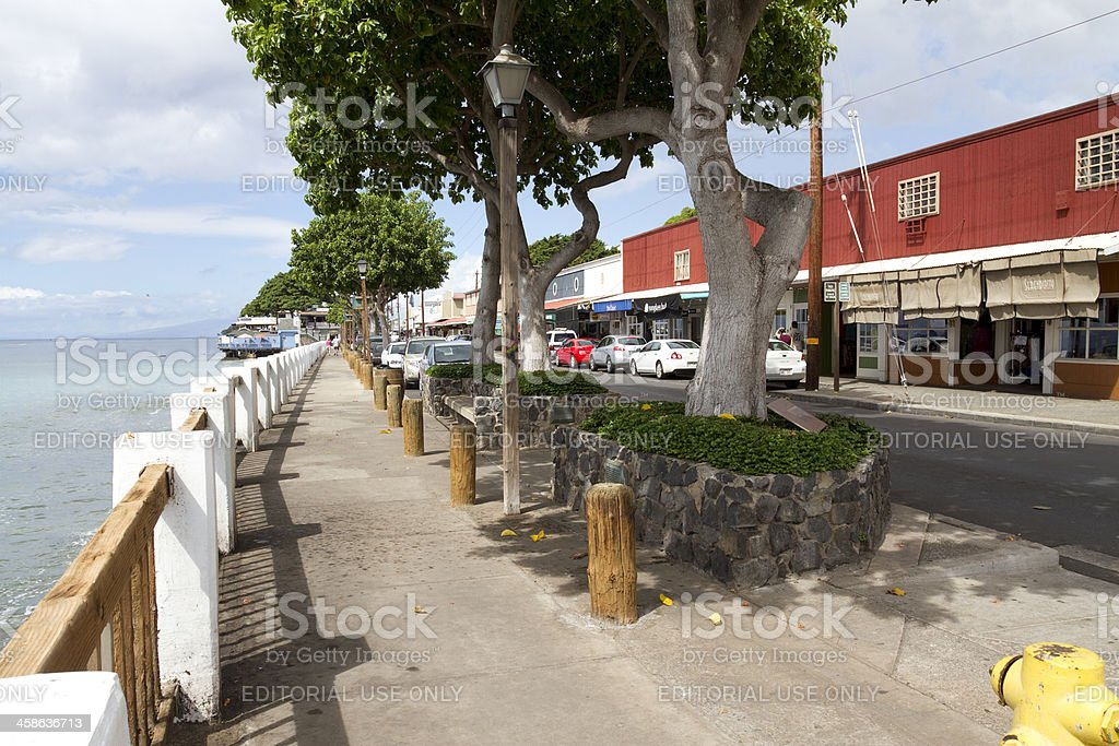 Waterfront in Lahaina royalty-free stock photo