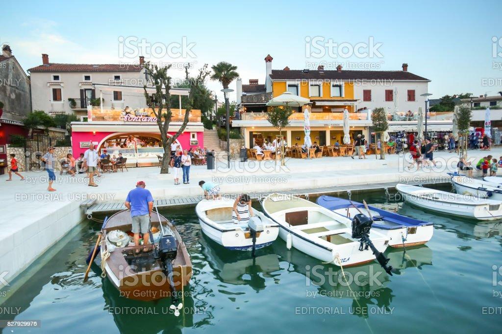 Waterfront in Njivice stock photo