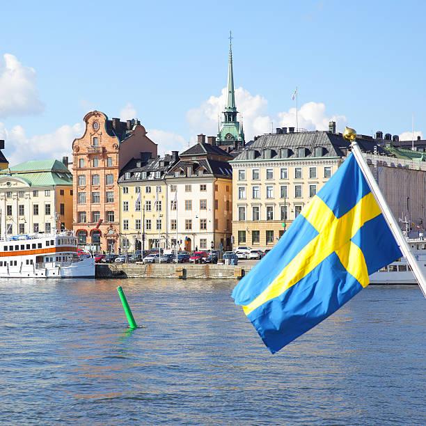 Waterfront de Estocolmo  - foto de acervo