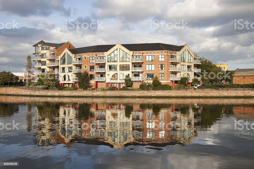 Waterfront Laganside Apartments stock photo