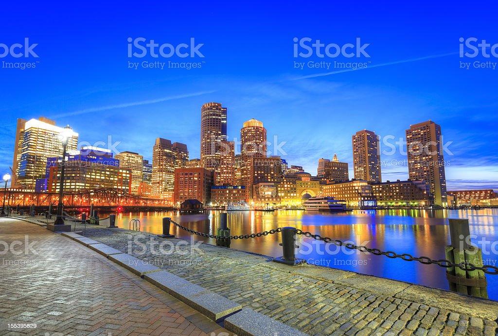 Waterfront of Boston, Massachusetts royalty-free stock photo