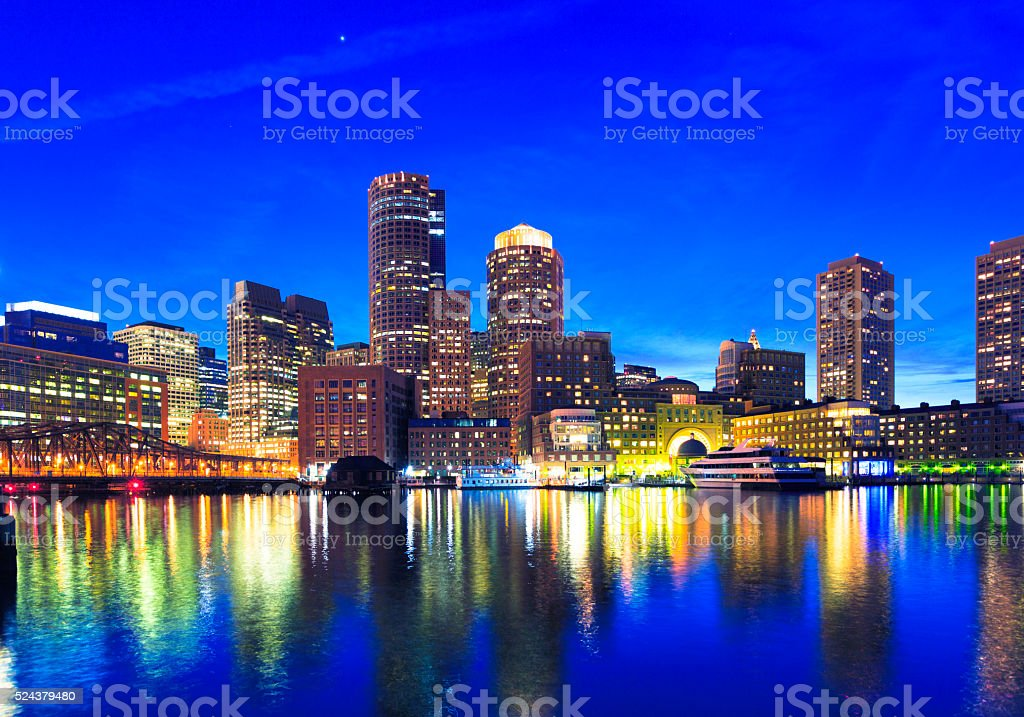 Waterfront of Boston, Massachusetts stock photo