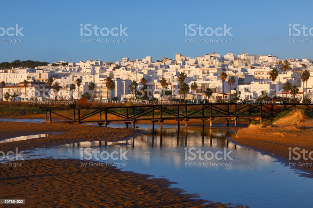 Waterfront of Conil de la Frontera, Spain stock photo