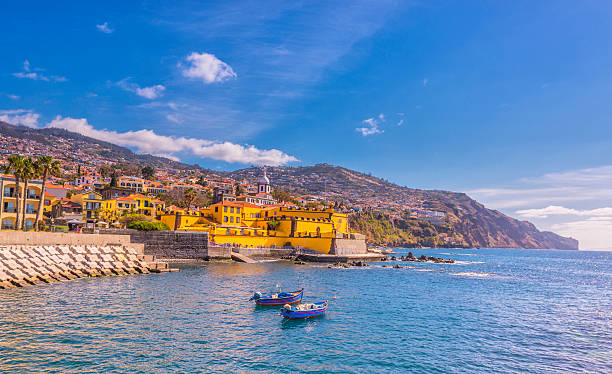 Waterfront of Funchal, Madeira stock photo