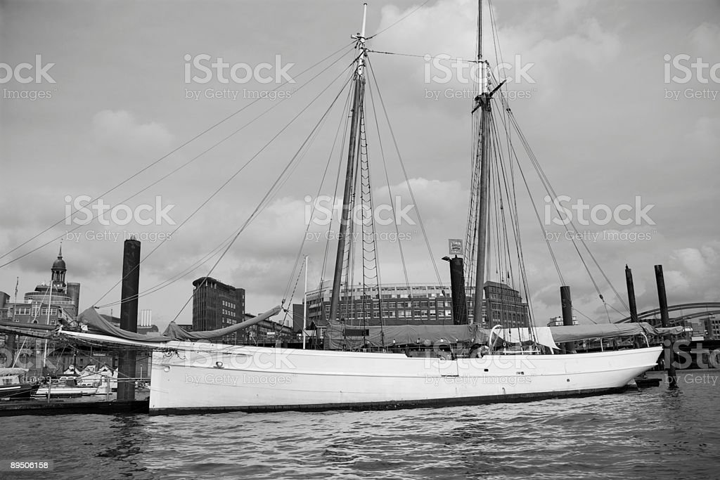 Waterfront of Hamburg royalty-free stock photo