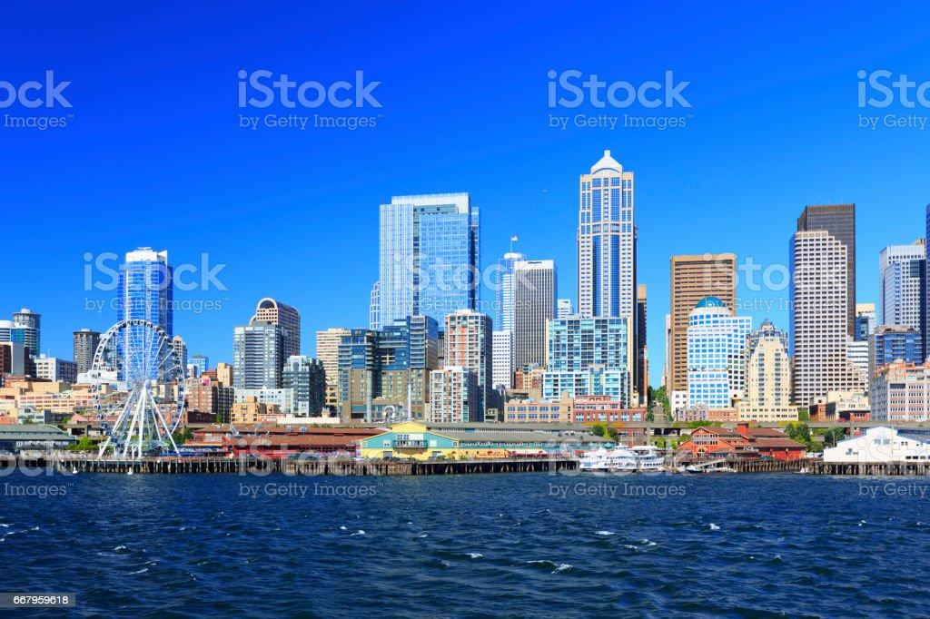 Waterfront of Seattle, Washington stock photo