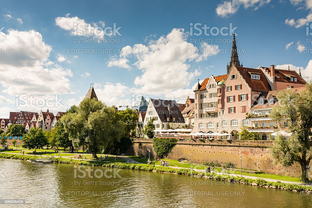 Waterfront of Ulm royalty-free stock photo