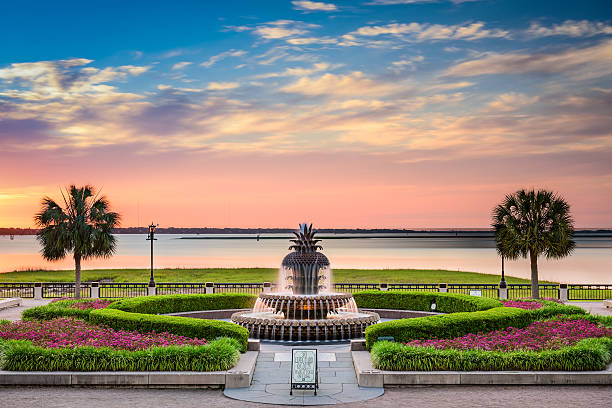 Waterfront Park Charleston Charleston, South Carolina, USA at Waterfront Park. south carolina stock pictures, royalty-free photos & images