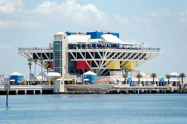 Waterfront pier stock photo