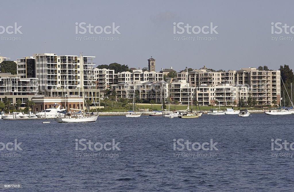 Waterfront Properties royalty-free stock photo
