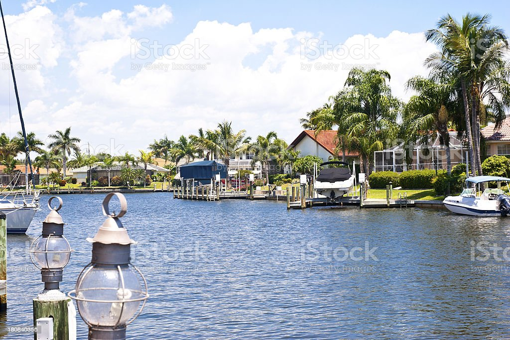 Waterfront Properties with Gulf Access royalty-free stock photo