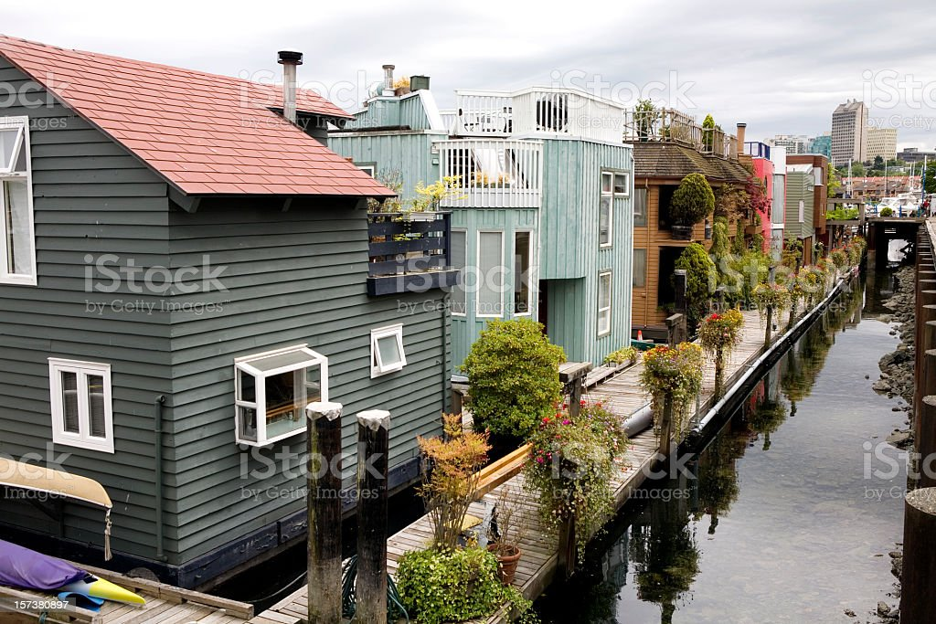 Waterfront Property in Seattle Washington royalty-free stock photo
