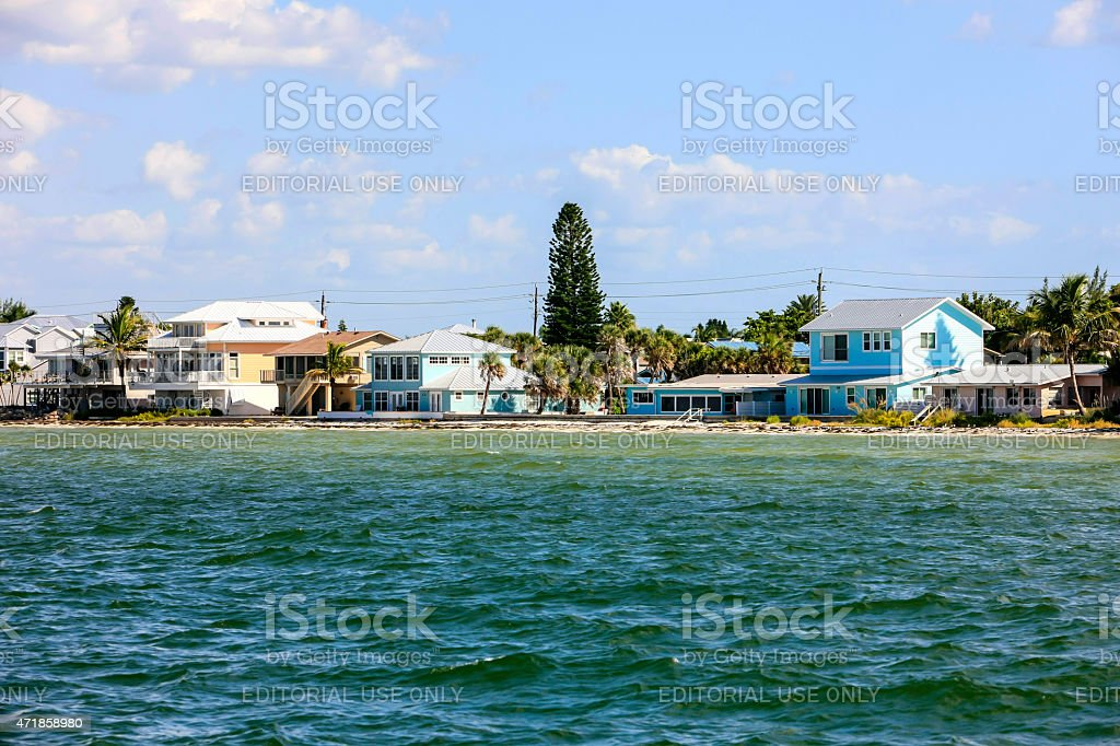 Waterfront Property On Anna Maria Island Fl Stock Photo