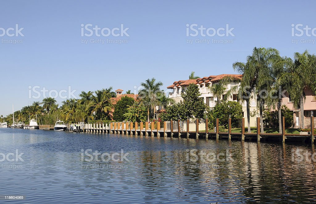 Waterfront real estate royalty-free stock photo