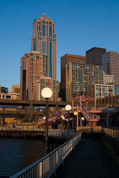 Waterfront Skyline stock photo