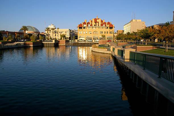 Waterfront Stockton Reflection stock photo