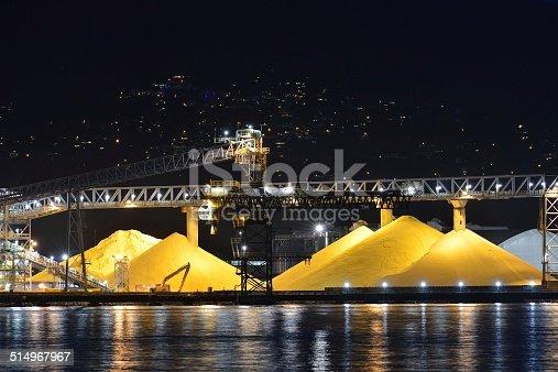 istock Waterfront Sulphur Piles, Port of Vancouver 514967967