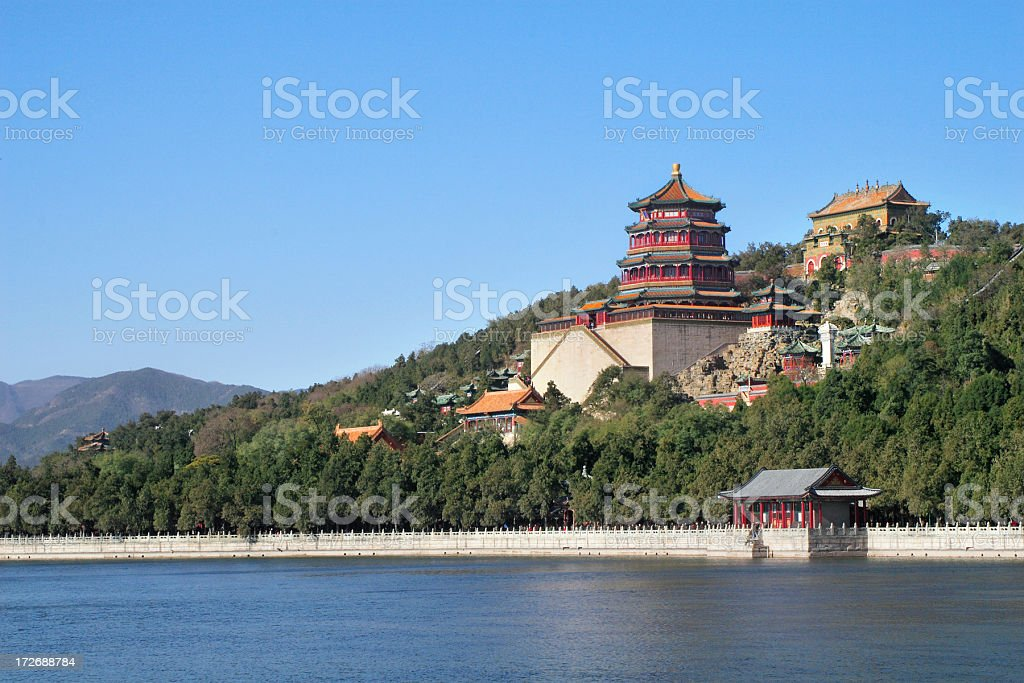 Waterfront Summer Palace in Beijing, China stock photo