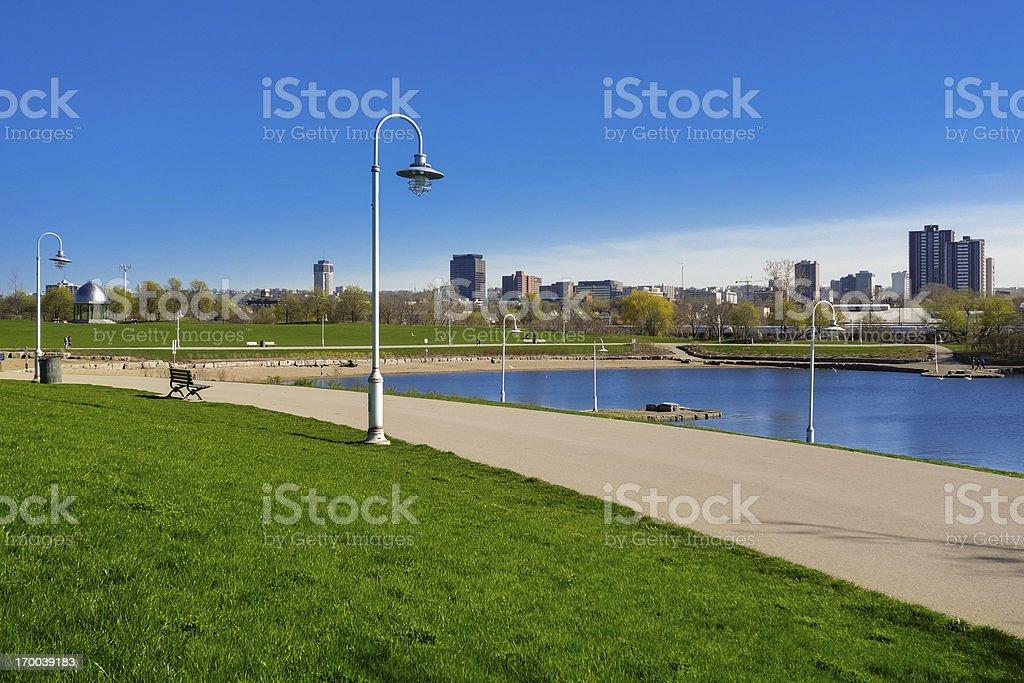Waterfront Trail at Bayfront Park in Hamilton Ontario Canada stock photo