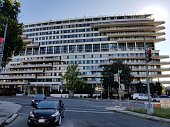 Watergate Building in downtown Washington DC. The building was the scene of a political scandal in early 1970s that forced US president Richard Nixon to resign in 1974.