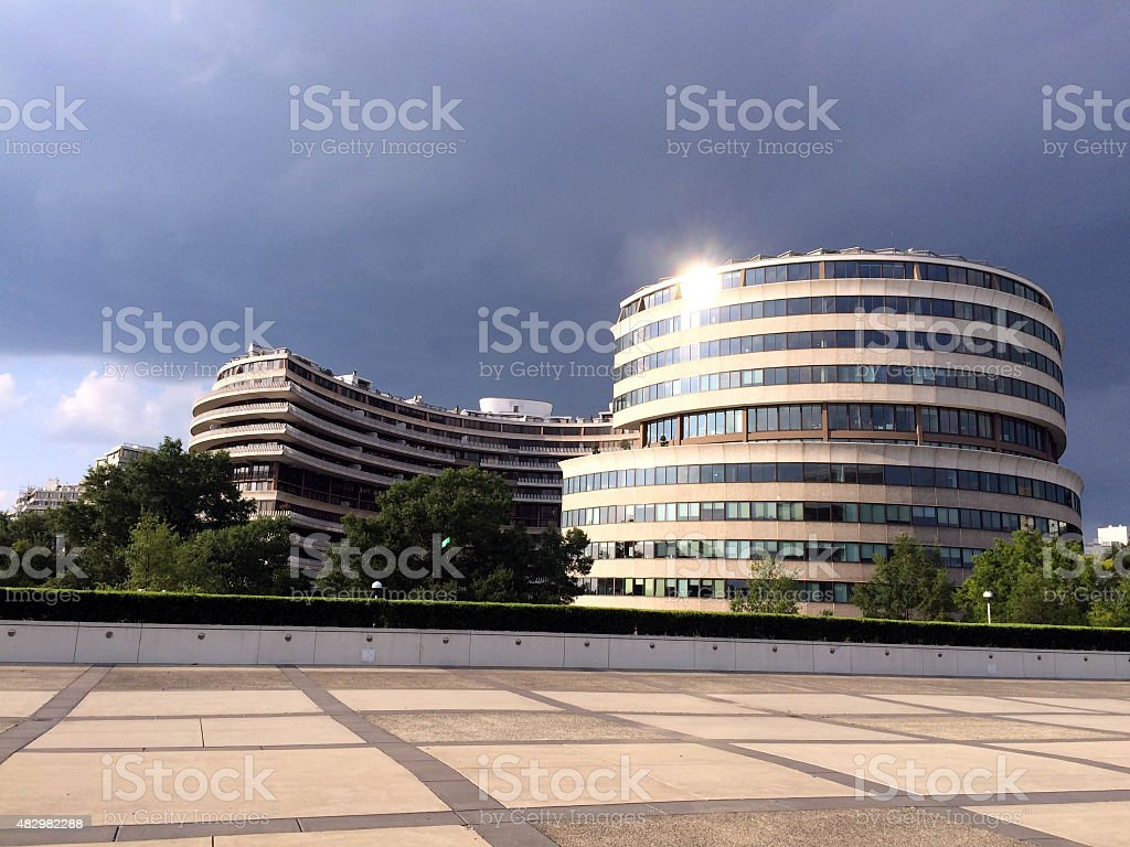 Watergate Complex from Kennedy Center 3 stock photo