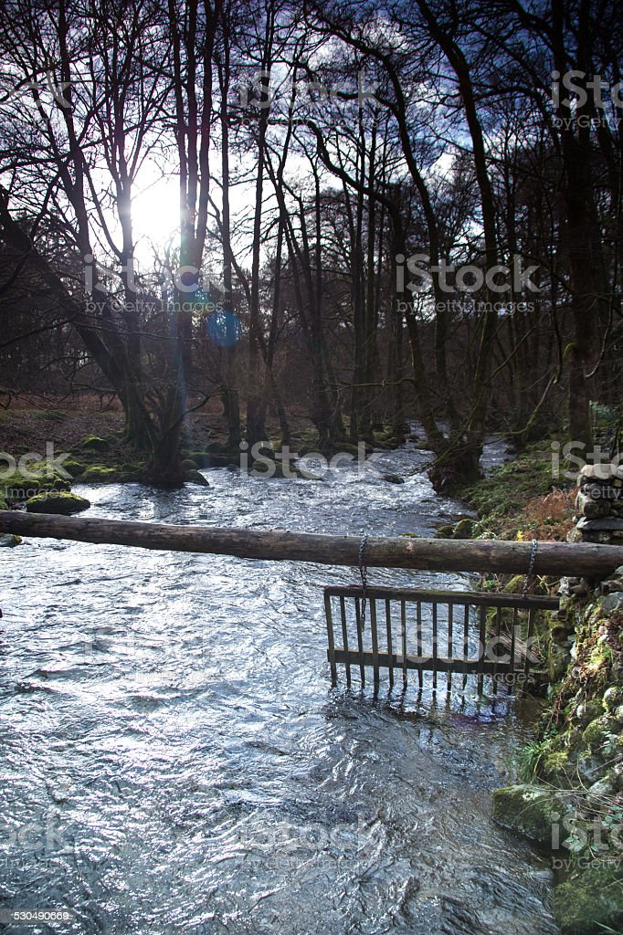Watergate In The Woods Of The Lakedistrict stock photo