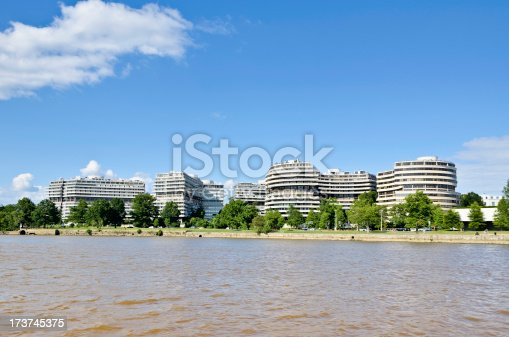The famous Watergate complex in Washington DC where events led to the eventual resignation of US President Richard Nixon.