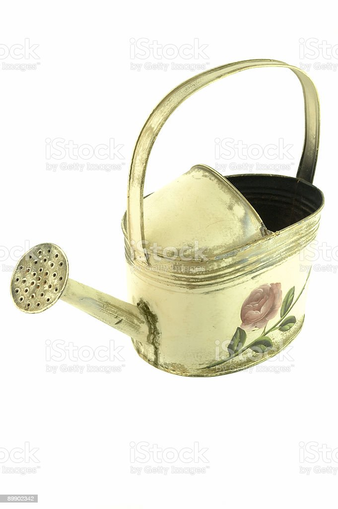Watering can, isolated royalty-free stock photo