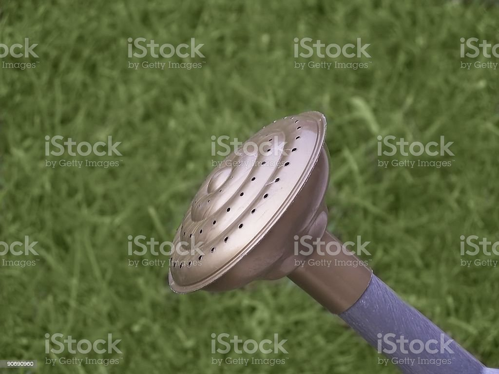 Watering can spout royalty-free stock photo